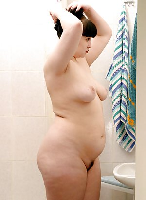 Chubby Girl in Shower Pics